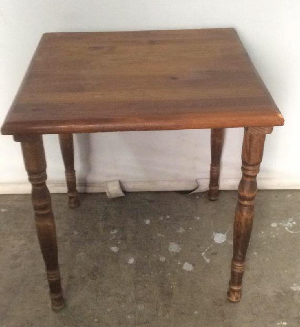 Carved Wooden Side Table - 3