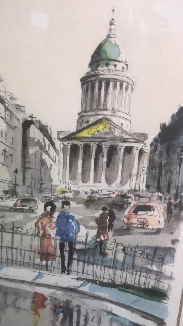 Ink And Watercolor Artwork Of Paris By G. Lelong