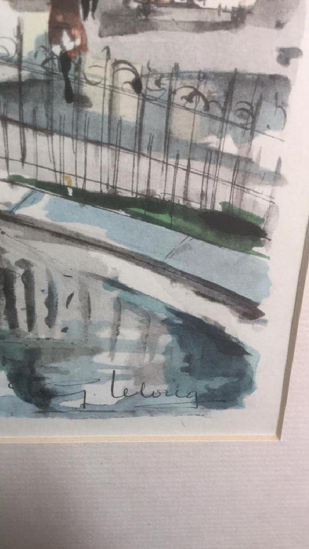 Ink And Watercolor Artwork Of Paris By G. Lelong - 3