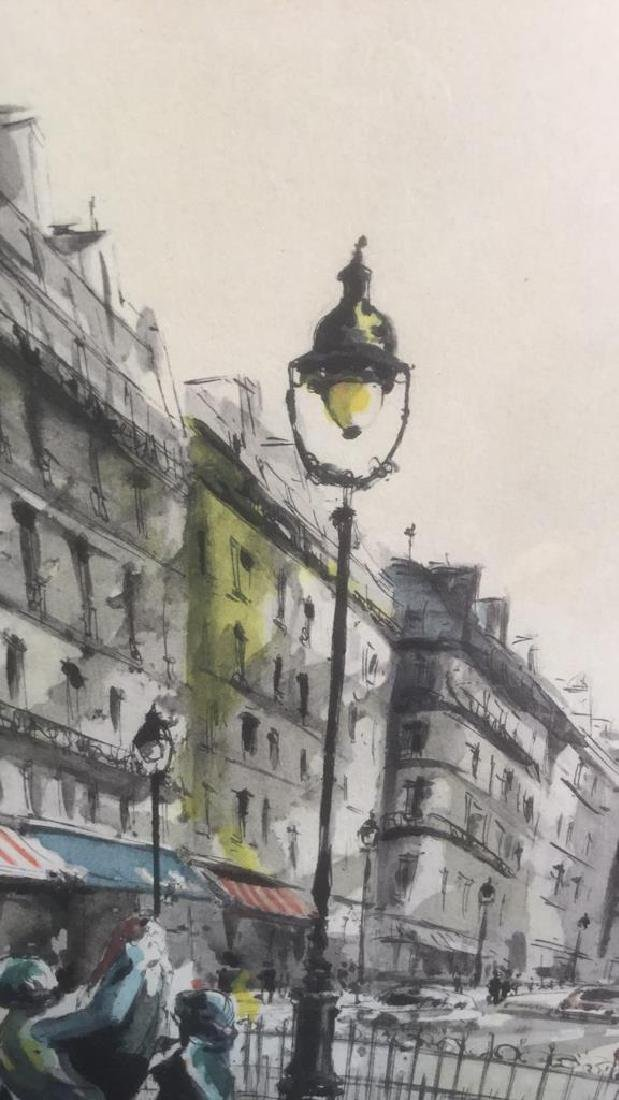 Ink And Watercolor Artwork Of Paris By G. Lelong - 5