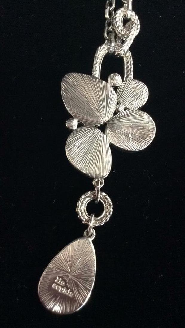 Lot 3 Silver Toned Metal Jewelry necklaces - 11