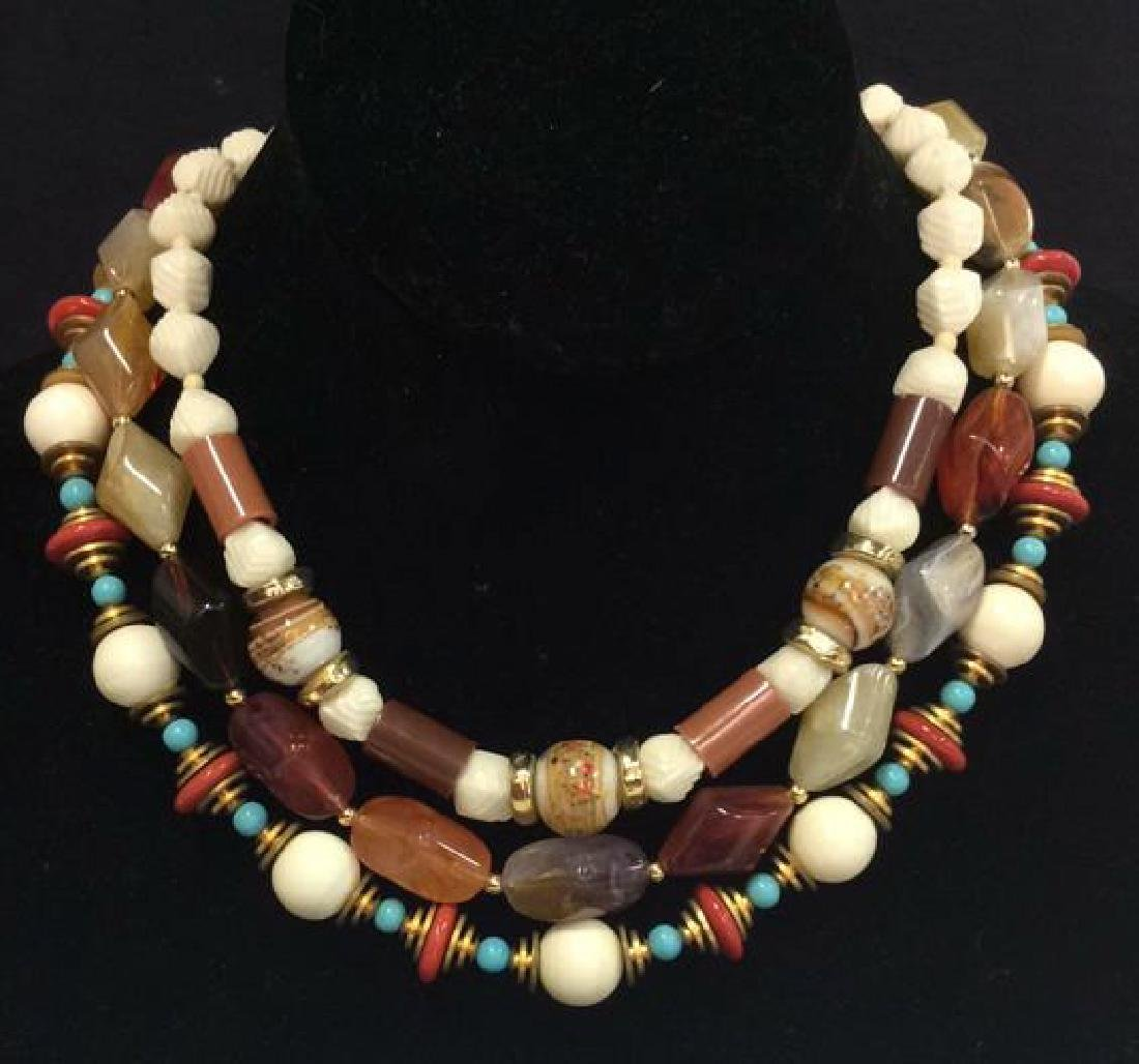 Lot 3 Estate Costume Beaded Necklaces