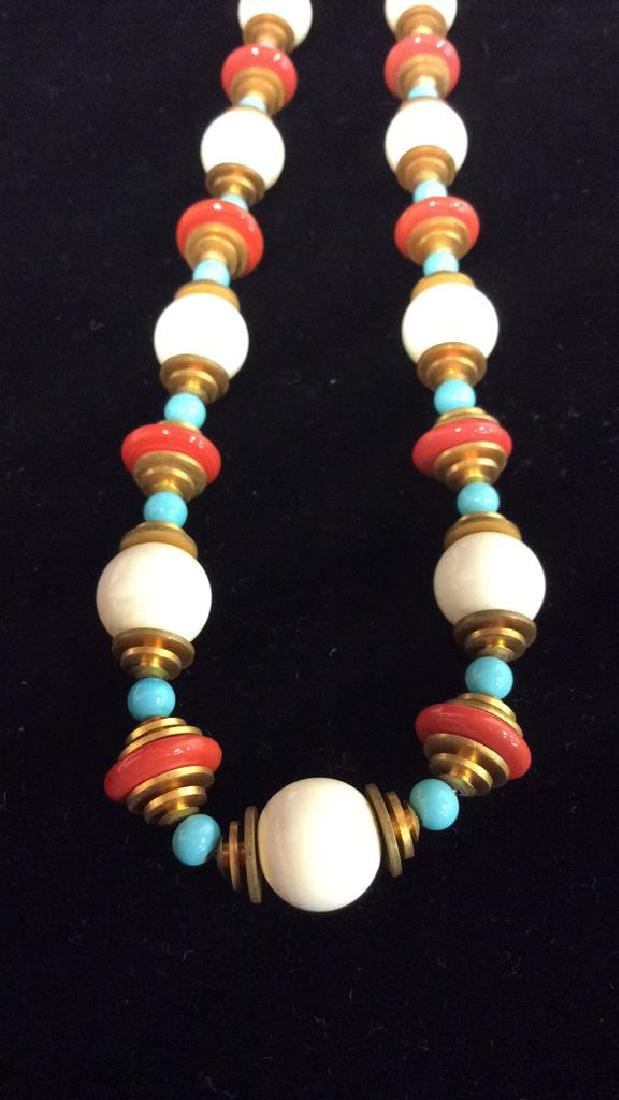 Lot 3 Estate Costume Beaded Necklaces - 2