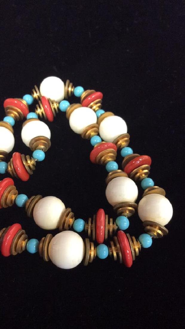 Lot 3 Estate Costume Beaded Necklaces - 3