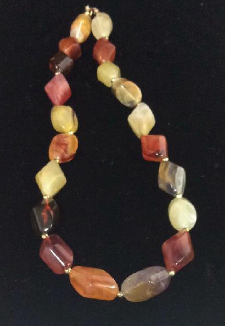 Lot 3 Estate Costume Beaded Necklaces - 4