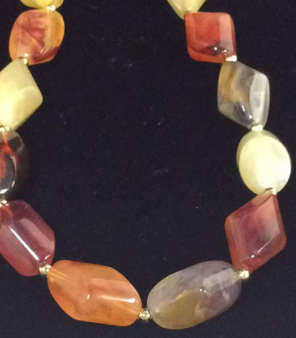 Lot 3 Estate Costume Beaded Necklaces - 5