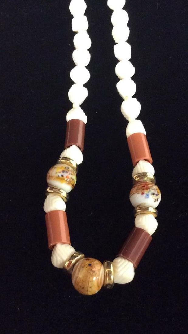 Lot 3 Estate Costume Beaded Necklaces - 6