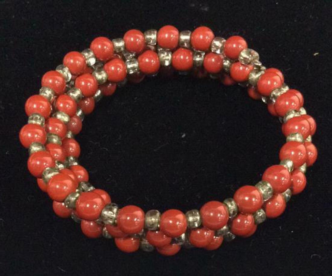 Lot 3 Women's Beaded Estate Jewelry Bracelets, Nec - 8