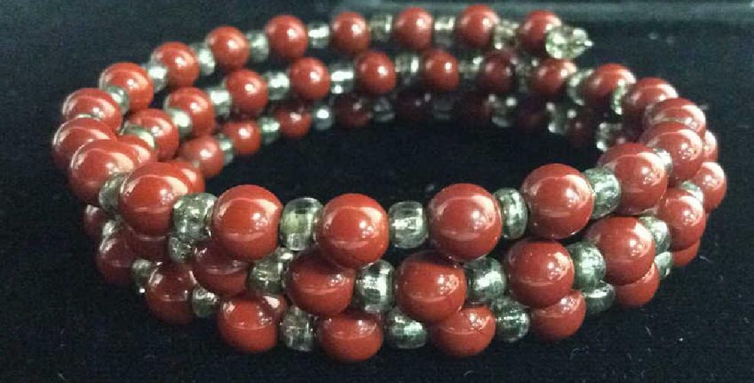 Lot 3 Women's Beaded Estate Jewelry Bracelets, Nec - 9