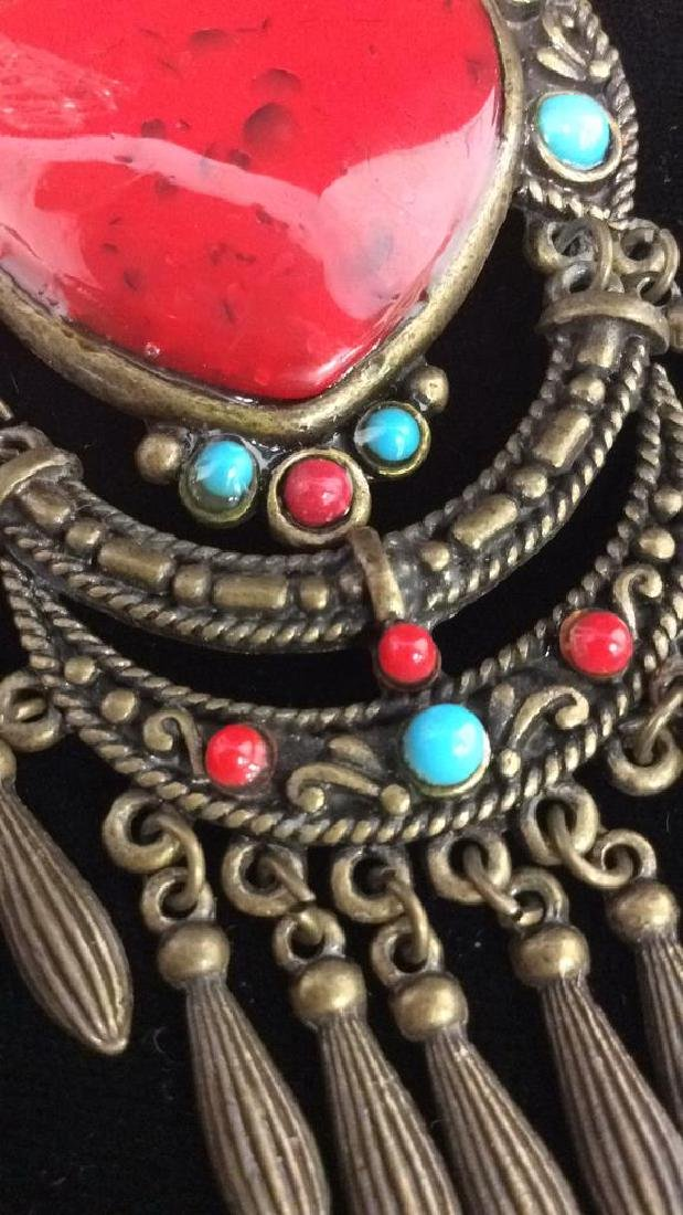 Women's Beaded Heart Pendant Necklace