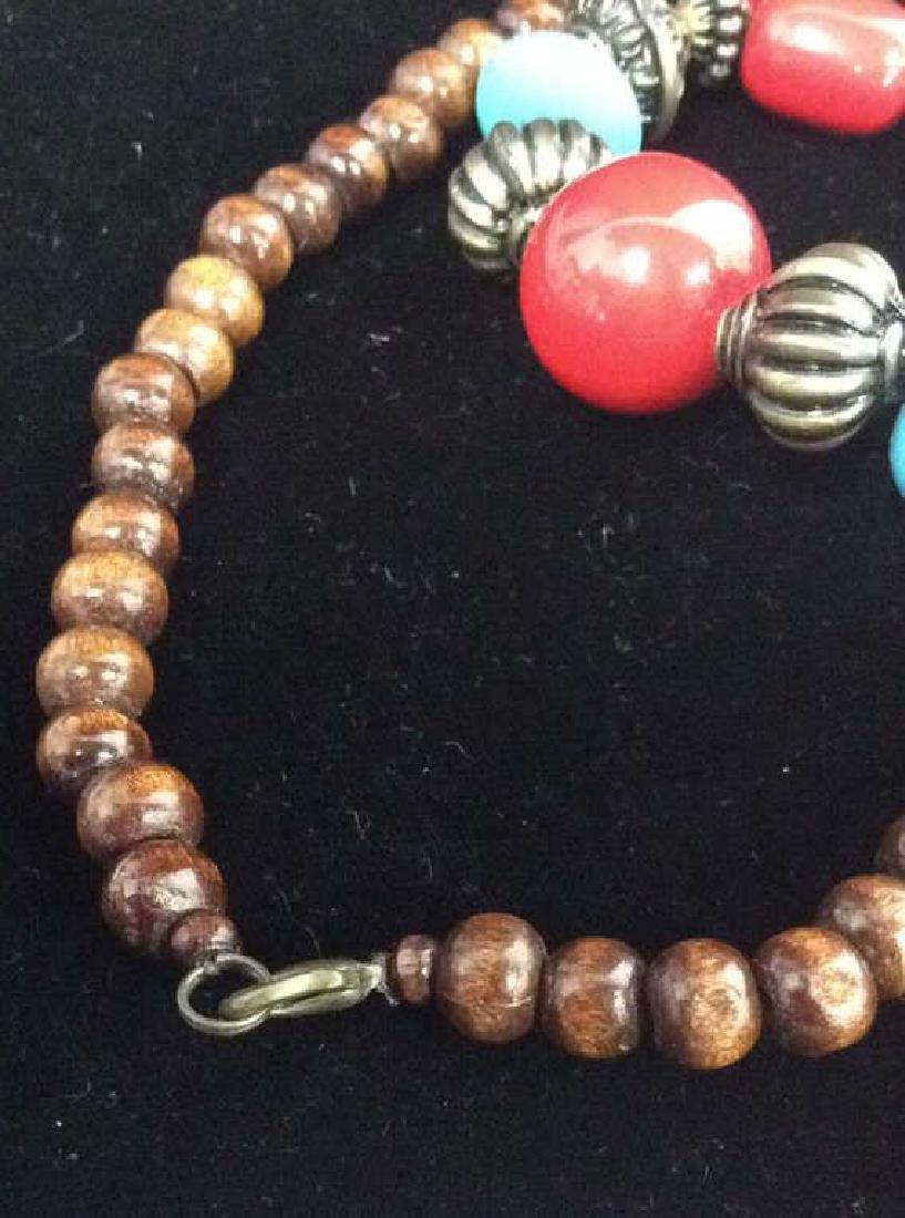 Women's Beaded Heart Pendant Necklace - 7