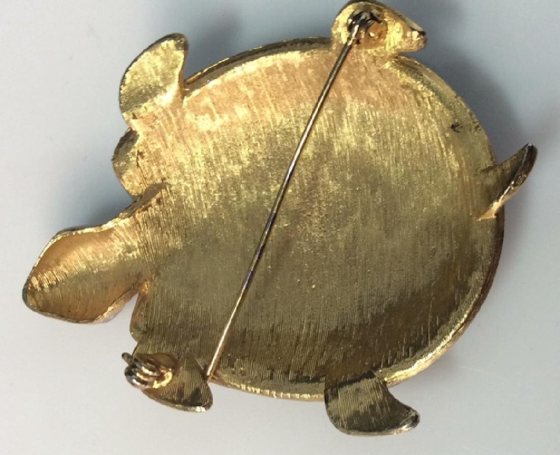 Lot 4 Women's Animal Figural Brooch Pins - 10