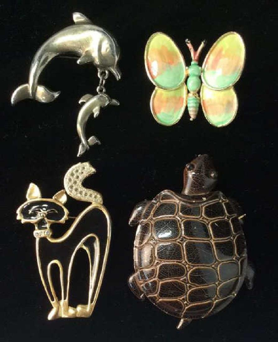Lot 4 Women's Animal Figural Brooch Pins