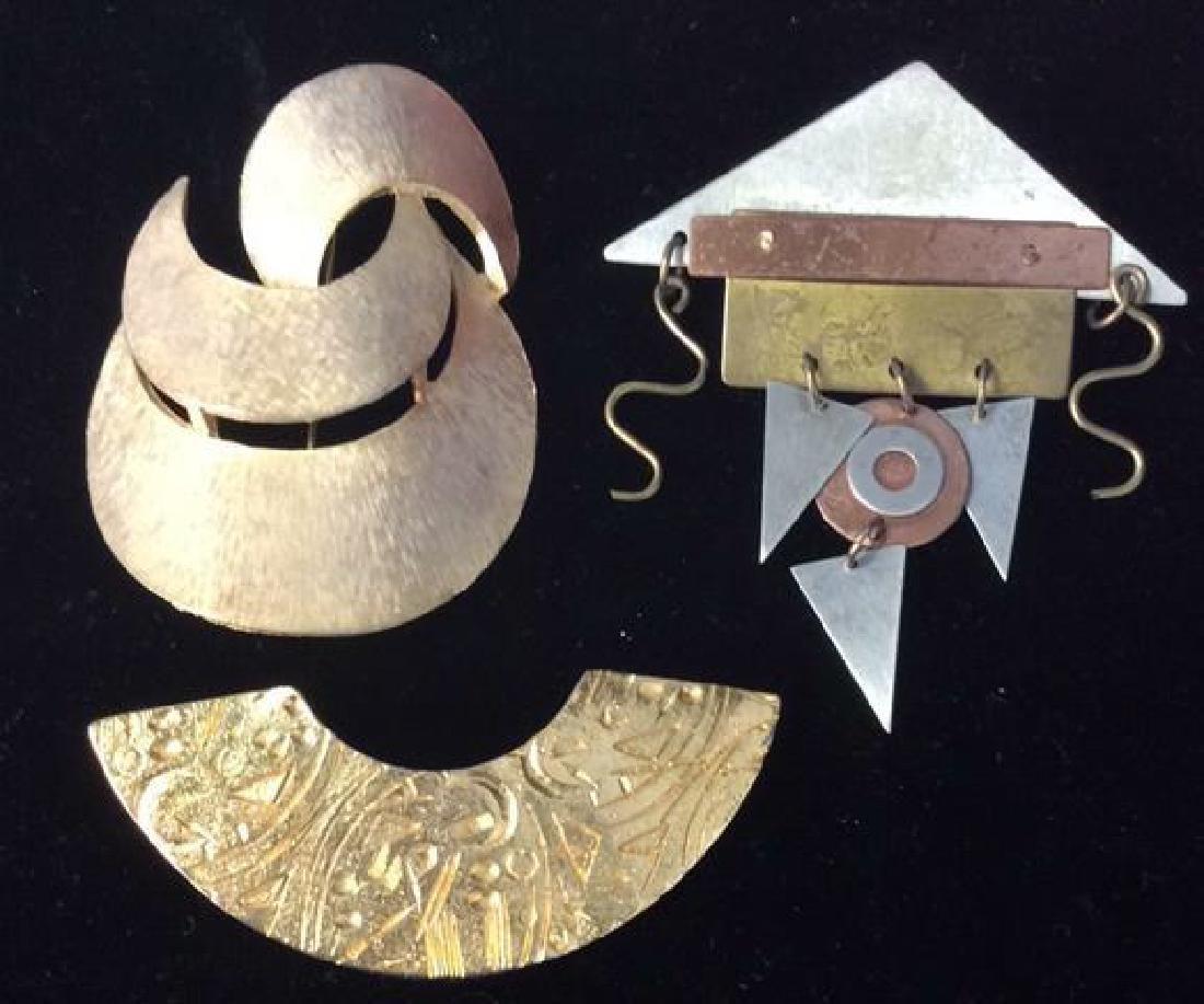 Lot 3 Metal Women's Brooch Pins Jewelry