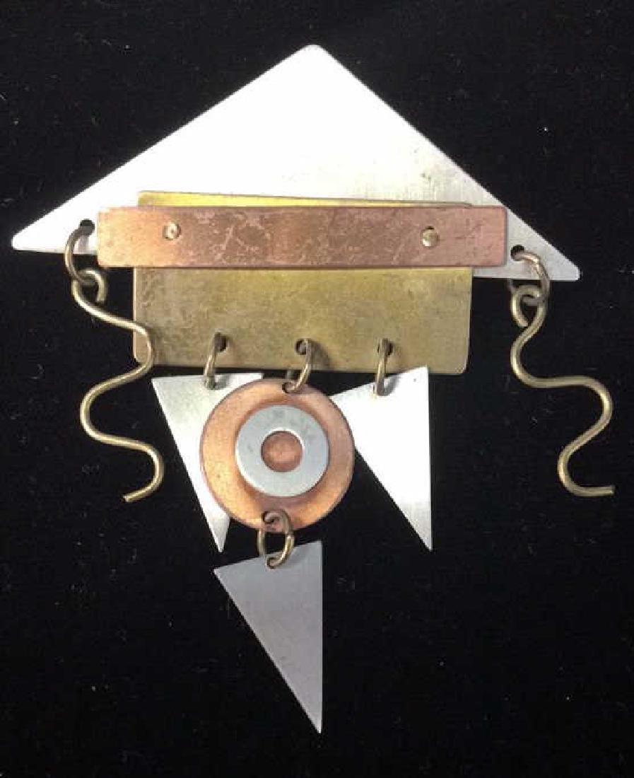Lot 3 Metal Women's Brooch Pins Jewelry - 2