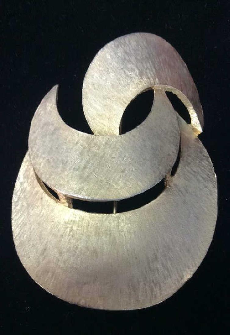 Lot 3 Metal Women's Brooch Pins Jewelry - 8