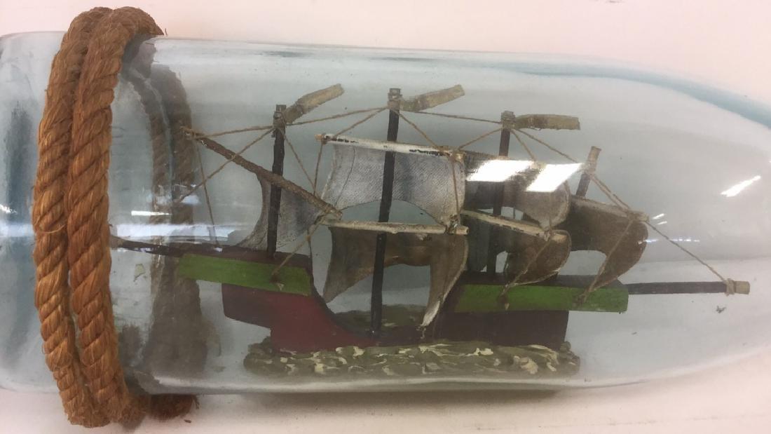 Ship In A Glass Bottle Sculpture