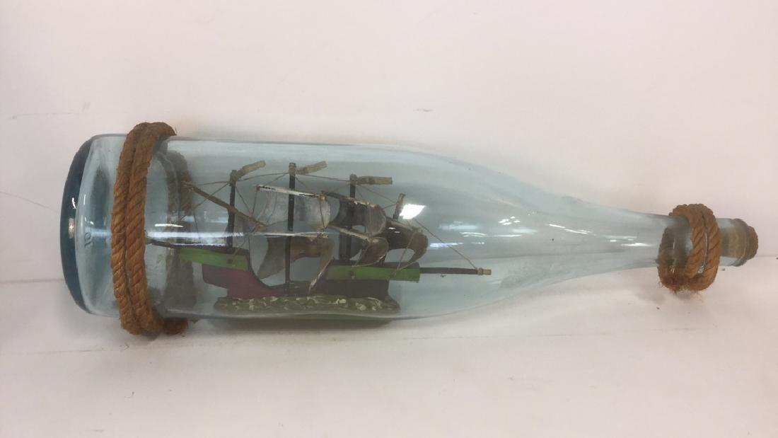 Ship In A Glass Bottle Sculpture - 2
