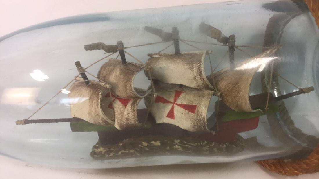 Ship In A Glass Bottle Sculpture - 4