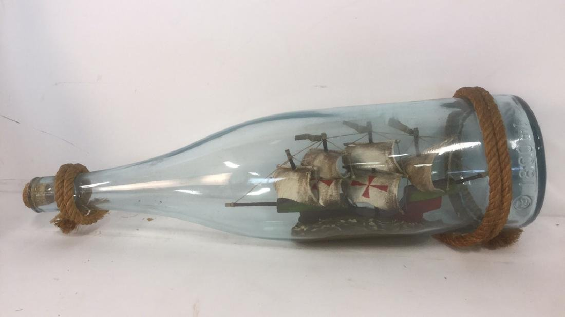 Ship In A Glass Bottle Sculpture - 5