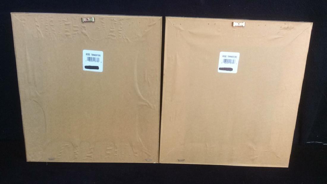 Lot 2 Gilded Wood Framed Rose Prints - 10