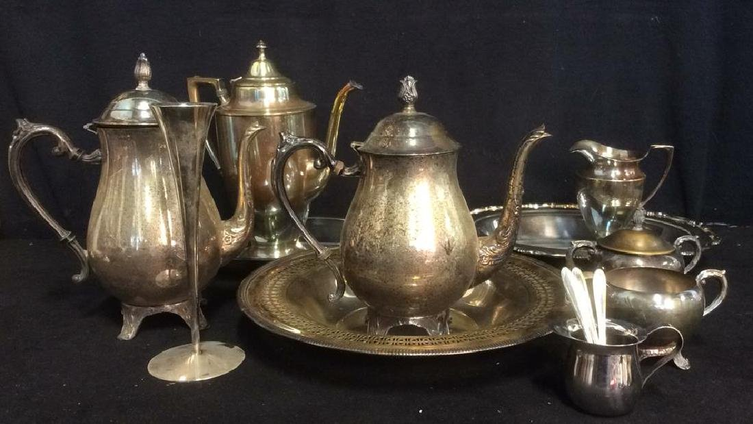 Lot 14 Silver Toned Tabletop Accessories