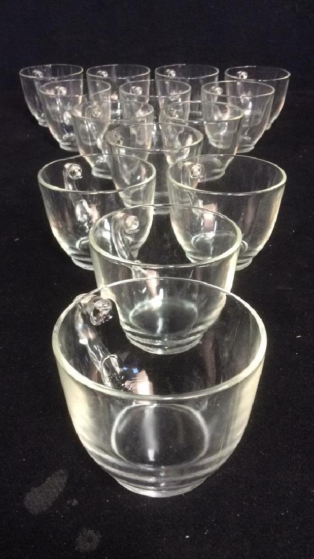 Lot 14 Marked Glass Teacups COllectibles