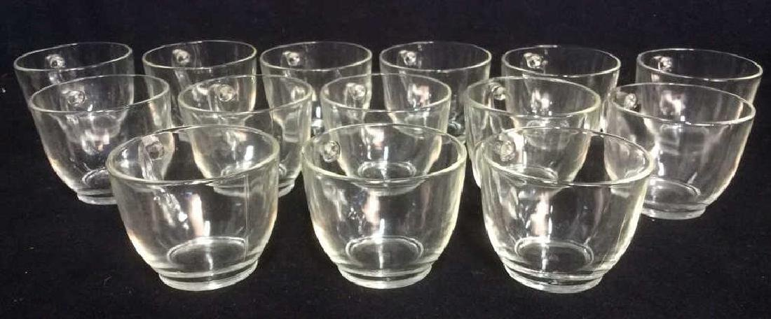 Lot 14 Marked Glass Teacups COllectibles - 2