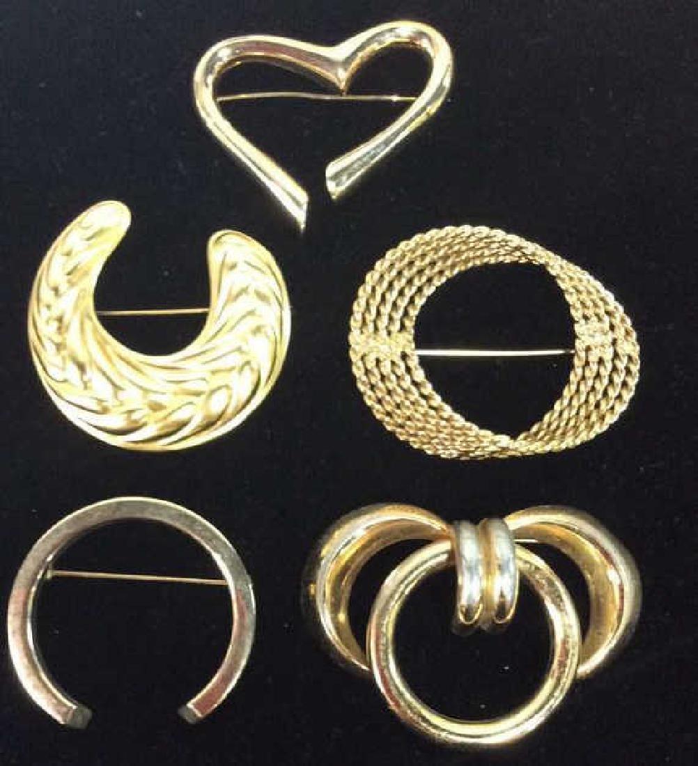Lot 5 Assorted Women's Brooch Pins