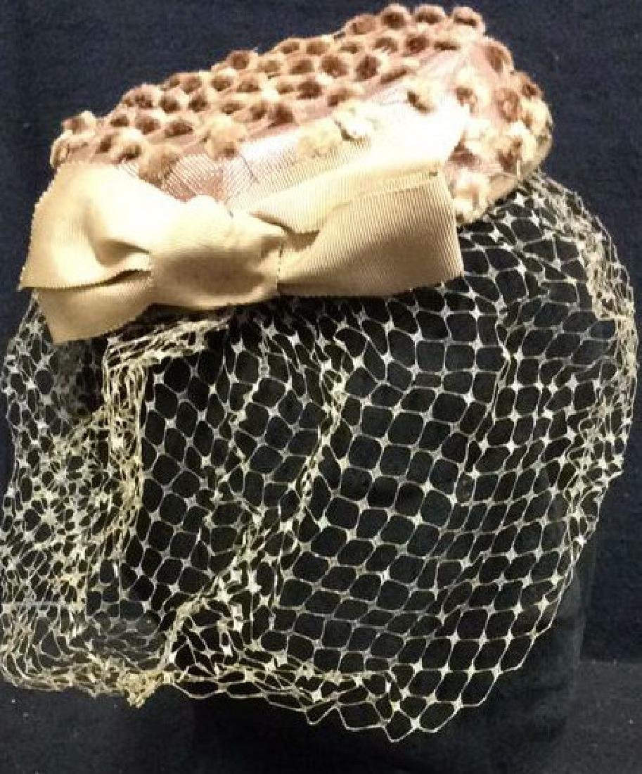 THERESA AHRENS Pink Toned Fascinator Hat w Veil