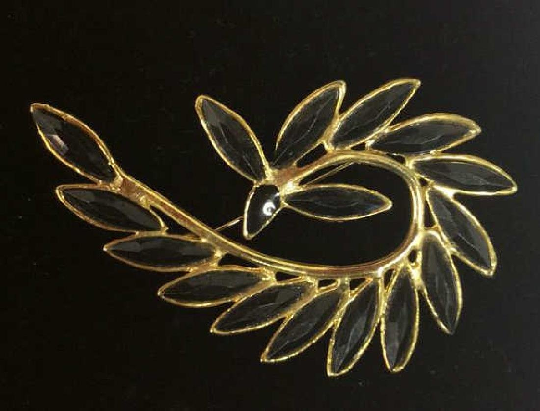 Lot 5 Assorted Gold Toned Women's Brooch Pins - 10