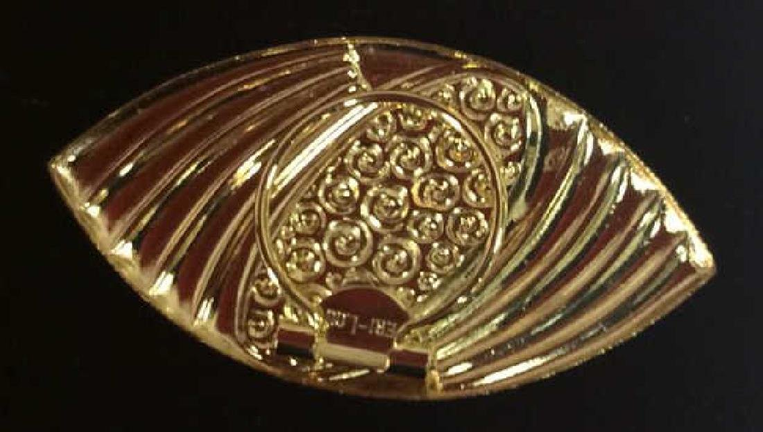 Lot 5 Assorted Gold Toned Women's Brooch Pins - 5