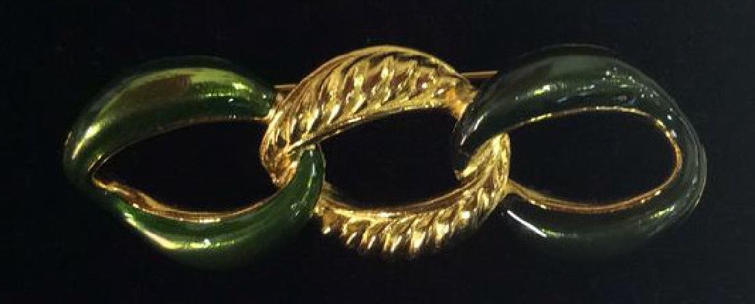 Lot 5 Assorted Gold Toned Women's Brooch Pins - 6