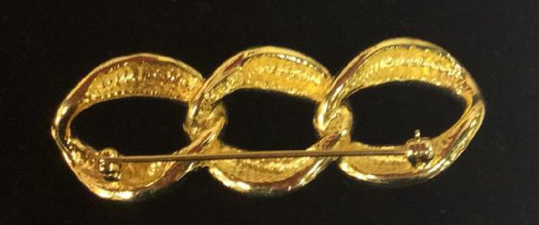 Lot 5 Assorted Gold Toned Women's Brooch Pins - 7