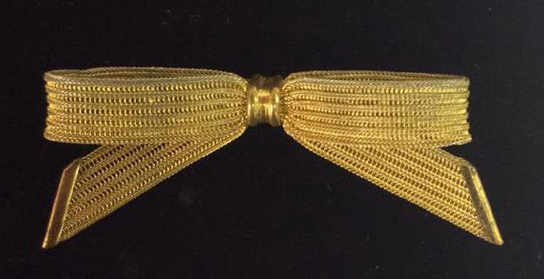 Lot 5 Assorted Gold Toned Women's Brooch Pins - 8