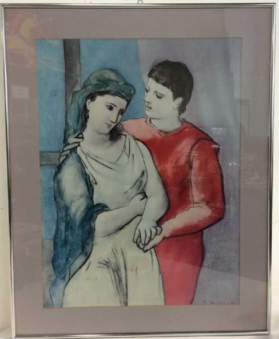 Art Poster Pablo Picasso The Lovers