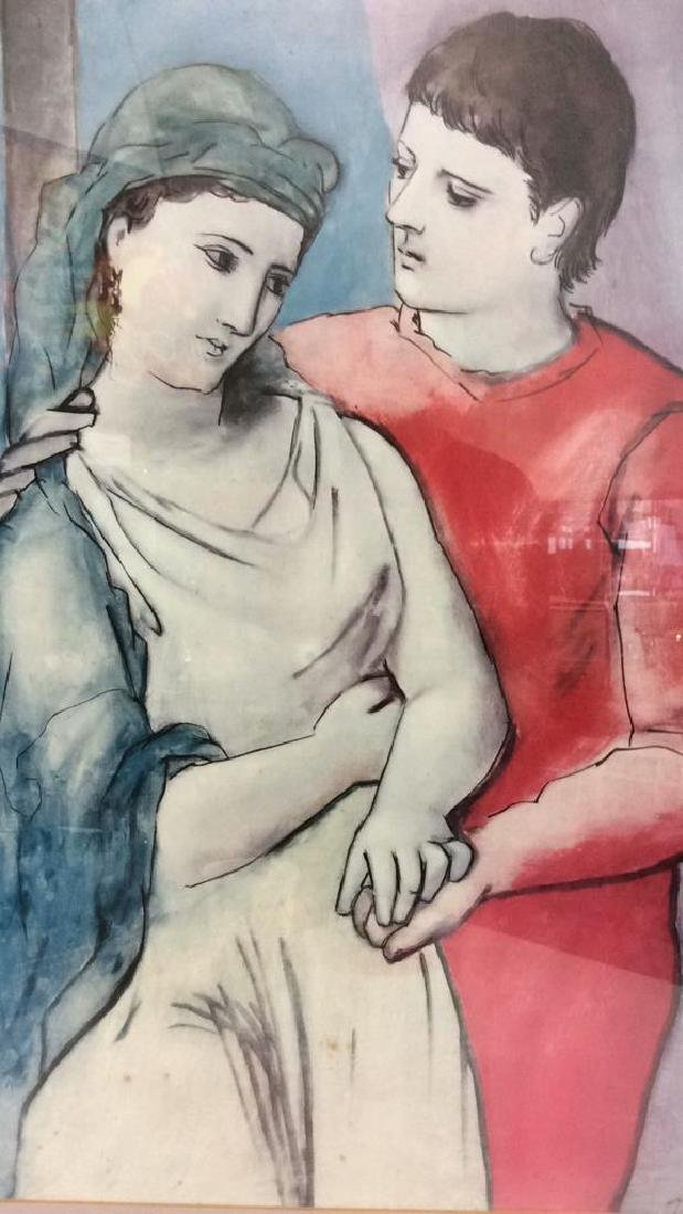 Art Poster Pablo Picasso The Lovers - 2