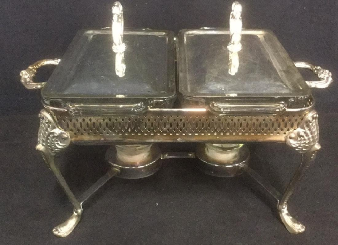 Silver Plated Double Food Warmer 1.5 Qt