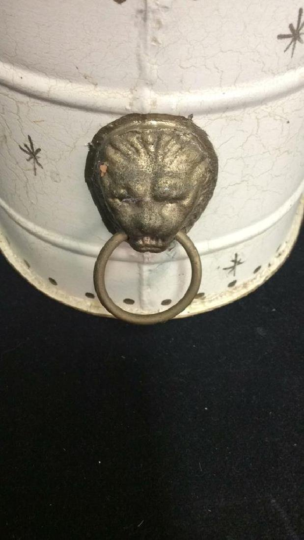 Pair Painted Metal Tole Decorative Bins - 7
