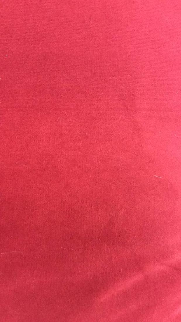 Lot 4 Cranberry Toned Fabric Pillows - 2