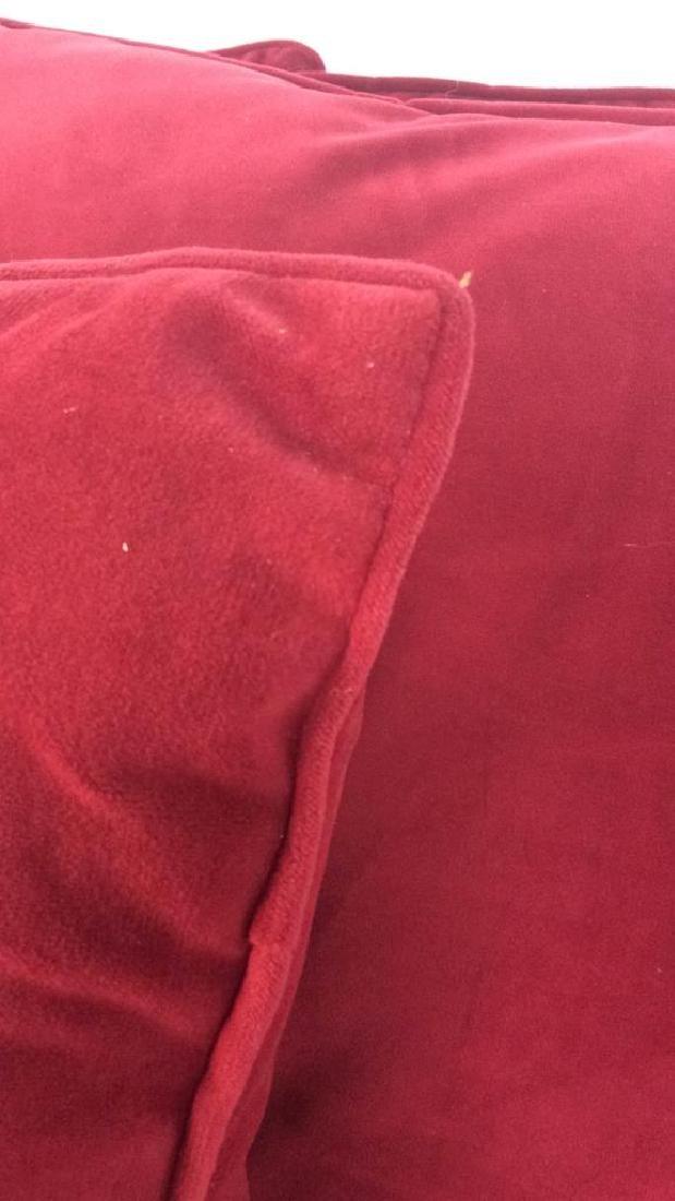 Lot 4 Cranberry Toned Fabric Pillows - 3