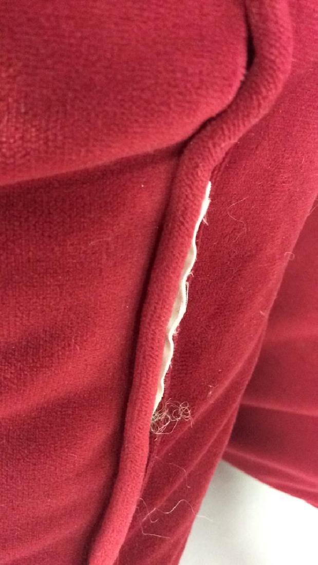 Lot 4 Cranberry Toned Fabric Pillows - 4