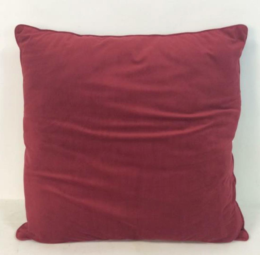 Lot 4 Cranberry Toned Fabric Pillows - 5