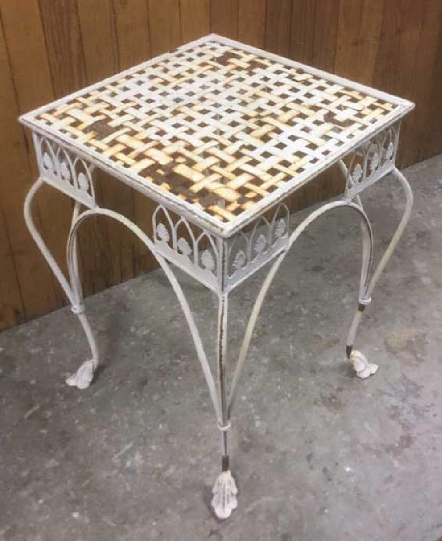 Painted Iron Outdoor Side-table