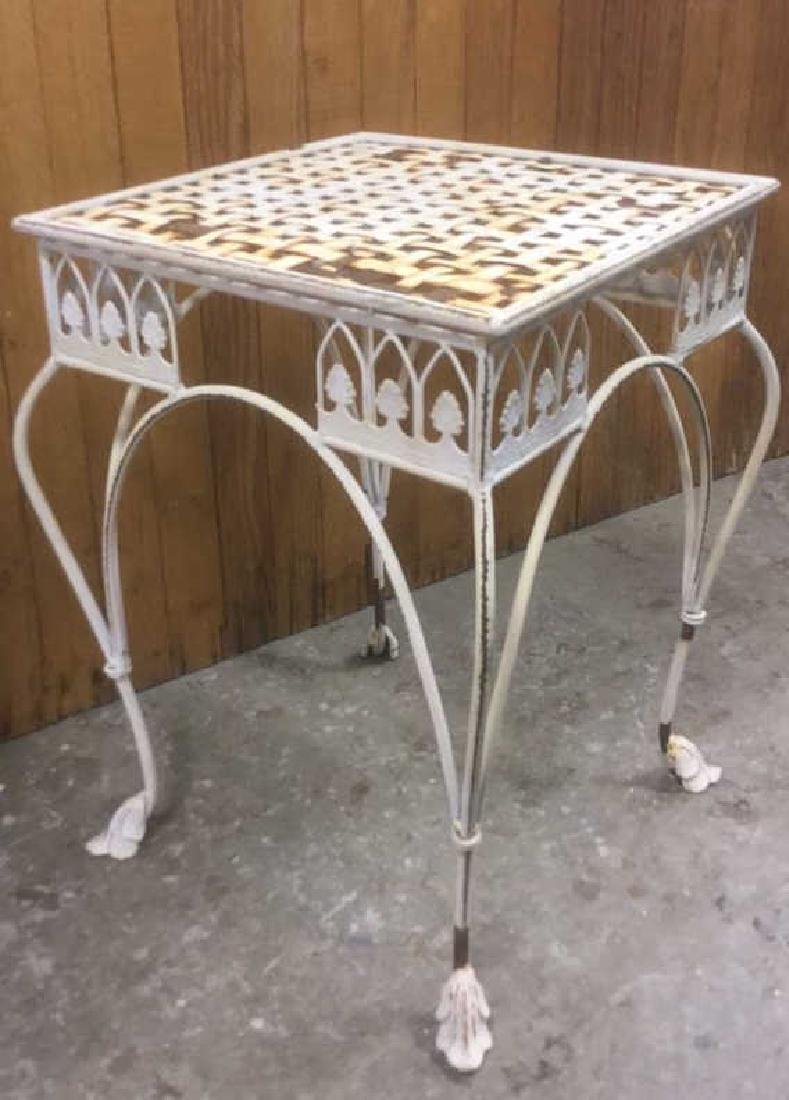 Painted Iron Outdoor Side-table - 2