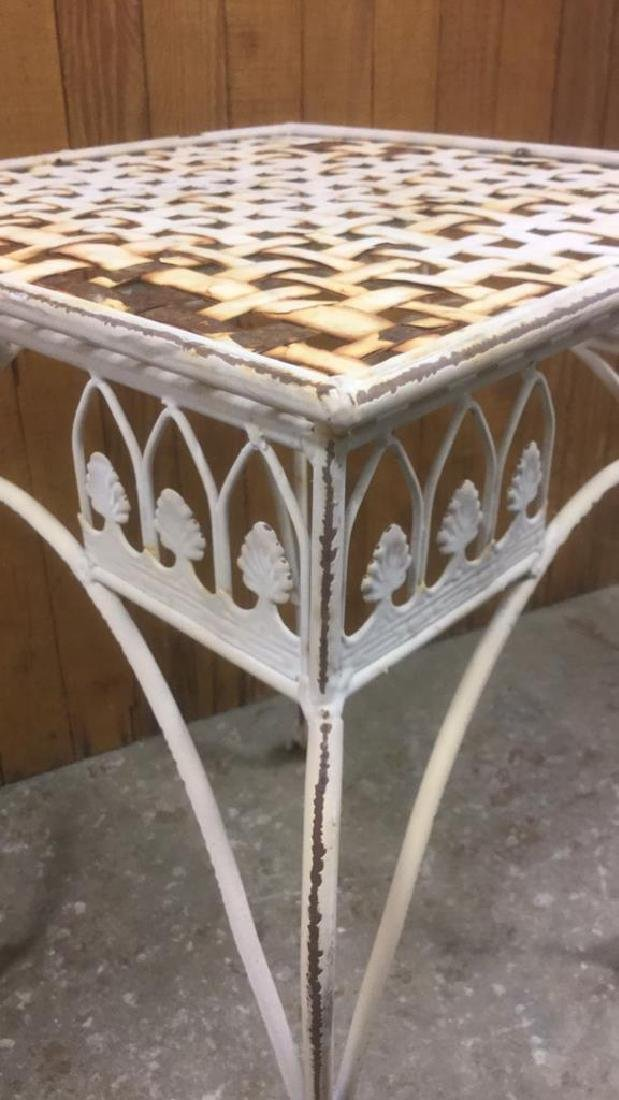 Painted Iron Outdoor Side-table - 3