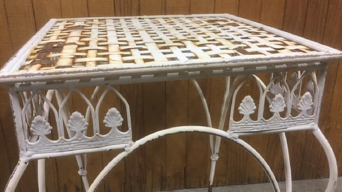 Painted Iron Outdoor Side-table - 5
