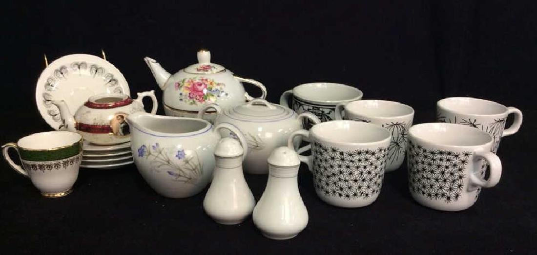 Group Lot Assorted Porcelain Tabletop Acc