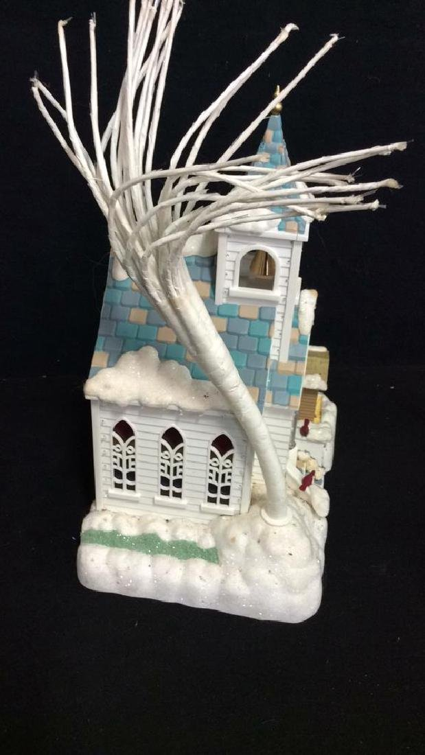 Plastic Light Up Church Decorative Collectible - 3
