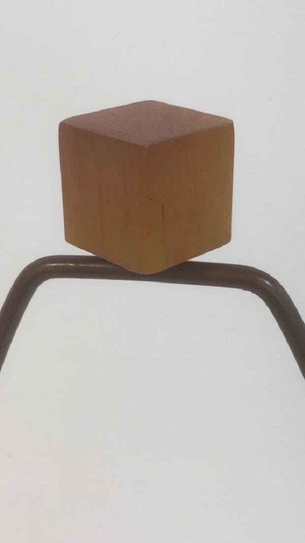 Wooden Tripod Lamp With Textured Fabric Shade - 5